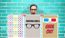Geek Glasses Collection of 3 Geek Out Adorkable Art Work - Wall Art Print Poster Pick a Size -  typography Art Geekery